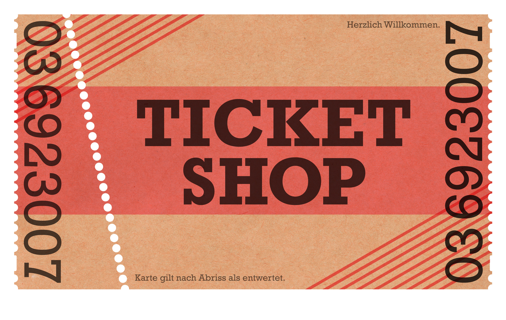 Ticket Shop – Classic Ticket – Webshop / Online-Shop / Vintage Design / Retro Style